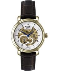 Rotary GS90506-06 Mens les originales jura automatische skelet gouden horloge