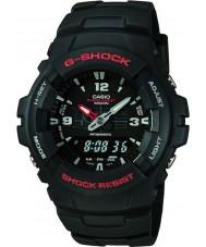 Casio G-100-1BVMUR Mens g-schok combinatie beeldscherm horloge