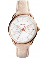 Fossil ES4007 Dames maat licht bruin lederen band horloge