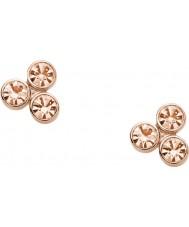 Fossil JF01440791 Ladies vintage glitter rose goud verguld oorbellen