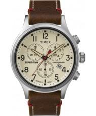 Timex TW4B04300 Mens expeditie scout bruin lederen chronograaf