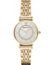 Emporio Armani AR1907 Dames vergulde schakelarmband jurk horloge