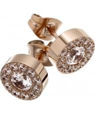 Edblad 83282 Ladies thassos rose goud verguld studs met cz