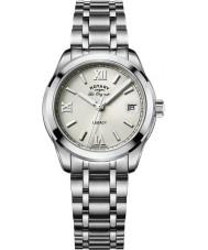 Rotary LB90173-06 Ladies uurwerken legacy zilveren stalen armband horloge