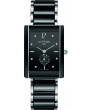 Roamer 690855-41-59-60 CERALINE saphira vierkante zwarte keramische armband horloge