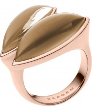 Skagen SKJ0487791-8 Ladies ditte rose gouden ring tone - size p