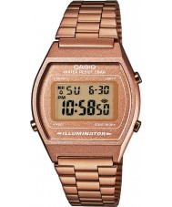 Casio B640WC-5AEF Dames retro collectie digitale rose gouden horloge