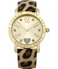 Lipsy LP124 Dames goud en animal print horloge