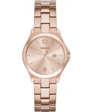 DKNY NY2367 Ladies parsons rose goud verguld horloge