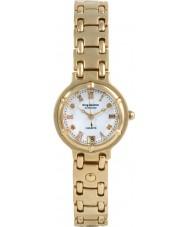 Krug-Baumen 5116DL Charleston 4 diamond witte wijzerplaat gouden band