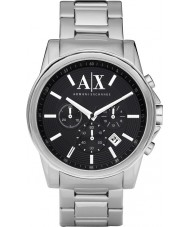 Armani Exchange AX2084 Heren zwart zilver chronograaf jurk horloge