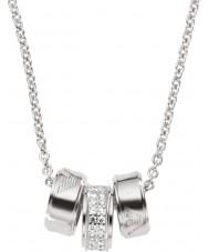 Emporio Armani EG3046040 Ladies handtekening zilveren ketting met zilveren rolo ketting