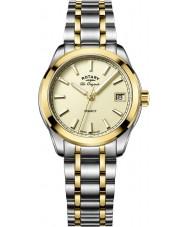 Rotary LB90174-03 Ladies uurwerken legacy two tone stalen armband horloge