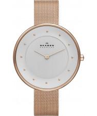 Skagen SKW2142 Ladies klassik rose goud mesh horloge