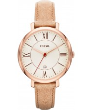 Fossil ES3487 Ladies jacqueline zand horloge lederen band