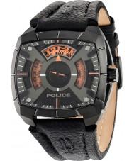 Police 14796JSU-02 Mens g kracht zwart lederen band horloge