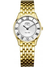 Rotary LB90803-01 Ladies ultraslanke vergulde horloge