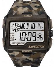 Timex TW4B07300 Mens raster shock bruine hars Strap Watch
