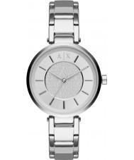 Armani Exchange AX5315 Ladies stedelijke zilveren stalen armband horloge