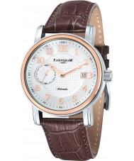 Thomas Earnshaw ES-8027-03 Mens fitzroy bruin leder automatisch horloge