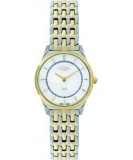 Rotary LB08001-02 Ladies ultraslanke two tone horloge