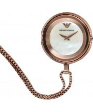 Emporio Armani AR7388 Ladies rose vergulde hanger horloge
