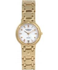 Krug-Baumen 5116DM Charleston 4 diamond witte wijzerplaat gouden band