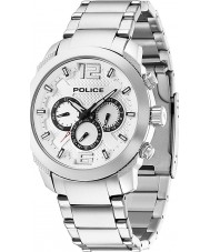 Police 13934JS-04M Mens triomf zilver stalen horloge