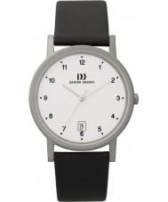 Danish Design Q12Q170 Mens zwart lederen band horloge
