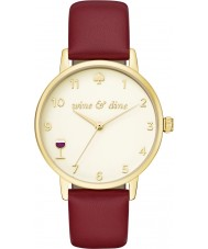 Kate Spade New York KSW1188 Ladies metro bordeaux lederen band horloge