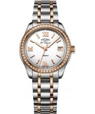 Rotary LB90175-01 Ladies uurwerken legacy two tone stalen armband horloge