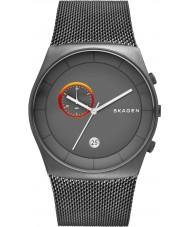 Skagen SKW6186 Mens havene chronograaf grijs mesh band horloge
