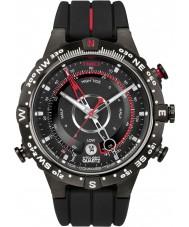 Timex T2N720 Mens alle zwarte tij temp kompas horloge