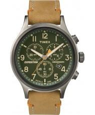 Timex TW4B04400 Mens expeditie scout bruin lederen chronograaf