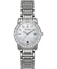 Bulova 96R105 Ladies diamanten zilveren stalen armband horloge