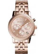 Michael Kors MK6077 Dames Ritz rose goud verguld chronograafhorloge