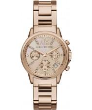 Armani Exchange AX4326 Dames jurk rose goud verguld chronograafhorloge