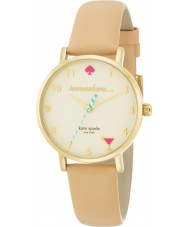 Kate Spade New York 1YRU0484 Ladies metro naakt vachetta lederen band horloge