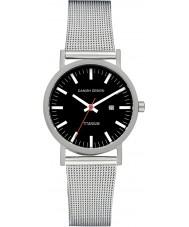 Danish Design V63Q199 Dames zilveren stalen gaas armband horloge