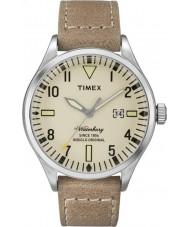 Timex TW2P83900 Mens waterbury bruin lederen band horloge