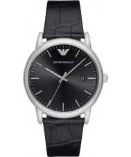 Emporio Armani AR2500 Mens jurk zwart lederen band horloge