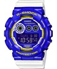 Casio GD-120CS-6ER Mens G-SHOCK wereldtijd witte digitaal horloge