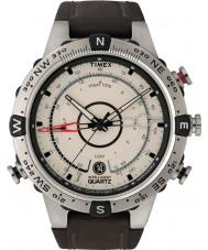 Timex T2N721 Mens natuurlijke bruine tij temp kompas horloge