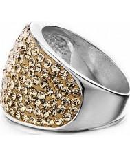 Shimla SH-085ML Ladies steen set rose gouden ring - formaat q