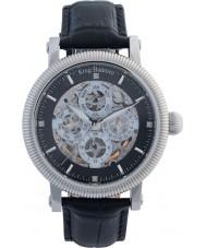 Krug-Baumen 60211DM Mens majestueuze zwarte lederen band horloge