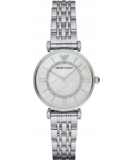 Emporio Armani AR1908 Ladies verzilverd schakelarmband jurk horloge