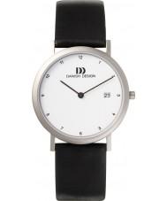 Danish Design Q12Q272 Mens zwart lederen band horloge