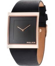 Police 14694MSR-02 Mens skyline x zwart lederen band horloge