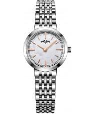 Rotary LB05060-07 Ladies uurwerken canterbury zilveren stalen armband horloge