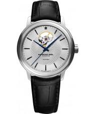 Raymond Weil 2227-STC-65001 Mens maestro zwart lederen band horloge